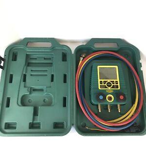REFCO DIGIMON Two Valve Digital Manifold HVAC With Hoses CH-6285