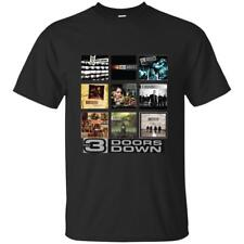 NEW 3 Doors Down Rock Band BLACK T Shirt Super Fast Shipping