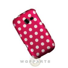 Samsung R480 Freeform 5 Shield Polka Dots Hot Pink Cover Shell Protector Guard
