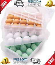 New listing Egg Holder 3 Layer Deviled Egg Tray With Lid Egg Carrier Box Dispenser Container