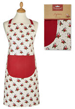 Ladies Festive Christmas Robin Cotton Apron Womens Xmas By Cooksmart NEW