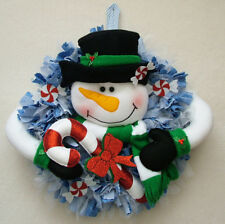 PATCHWORK / QUILTING CHRISTMAS SNOWMAN WREATH SEWING PATTERN by Gail Penberthy