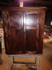 Merveilleux BEAUTIFUL ANTIQUE MAHOGANY C1800u0027S HANGING WALL CORNER CABINET READY TO USE