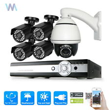 10X PTZ CCTV Camera 8 Channel AHD DVR 1080N Outdoor Security Complete System Kit