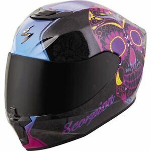 Scorpion EXO EXO-R420 Sugarskull Full Face Helmet - Black/Pink, All Sizes