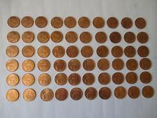 60 X 1966 Pre-Decimal British One Penny Coins in Mint Condition And Full Lustre.
