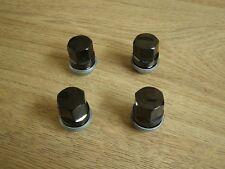 NEW GENUINE JAGUAR F-PACE E-PACE BLACK WHEEL NUTS x4