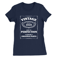 Aged To Perfection 1958 Womens T-Shirt 60th Birthday 60 Years Old Gift Top
