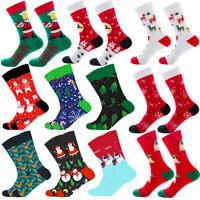 Cotton Christmas Socks Women Men New Year Santa Claus Christmas Tree Elk Socks