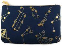 NEW Ipsy November 2016 RockStarlet Blue and Gold Glam Bag Makeup Bag