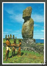 Easter Island Rapa Nui Moai Statues Natives Polynesia Chile