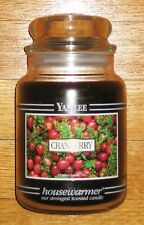 Yankee Candle - 22 oz - CRANBERRY - Black Band - VERY RARE AND HARD TO FIND!!