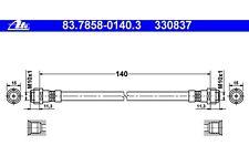 ATE Tubo flexible de frenos PEUGEOT SEAT CITROEN VOLKSWAGEN GOLF 83.7858-0140.3