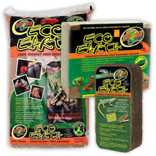 Zoo Med Eco Earth Substrate Block Coconut Bedding for Reptile Terrarium