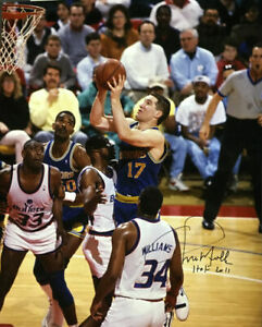 Chris Mullin Autographed/Signed Golden State Warriors 16x20 Photo HOF 12518