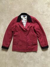Brooks Brothers Womans  Cotton Fully Lined Red Barn Chore Coat Size M