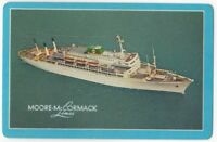 Playing Cards Single Card Old MOORE McCORMACK LINES Shipping Advertising Ship 1