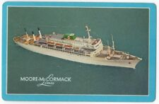 Playing Cards 1 Swap Card - Vintage MOORE McCORMACK LINES Shipping Liner Ship 1