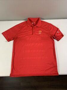 Men's Nike Golf Tour Performance Short Sleeve Oak Tree National Polo Shirt Sz M
