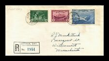 Dr Jim Stamps Ottawa Canada Registered Fdc Combo Monarch Size Cover