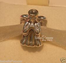 DIVINE ANGEL Genuine PANDORA Silver/14K GOLD Two 2 Tone CHRISTMAS Charm/Bead NEW