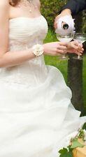 ROBE BUSTIER DE MARIEE MARIAGE IVOIRE  + voile + etole