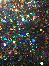 Nail Art Multi Coloured Blue Gold Purple 1mm-3mm Holographic Dots Glitter 5g Bag