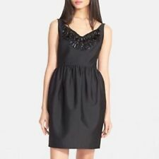 $598 Kate Spade New York Black  Embellished Cupcake Dress.SZ:10