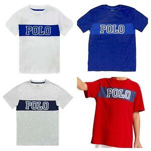 Ralph Lauren Boys Polo logo T Shirt  2 3 4 5 6 7 8 9 10 11 12 1 3 14 15 16 sale