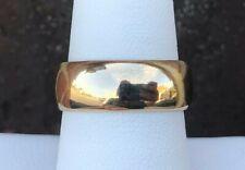 Band Size 8.5 14K Gold 7.5Mm Polished