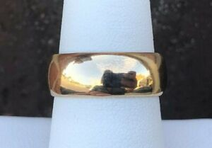 14K GOLD 7.5MM POLISHED BAND SIZE 8.5