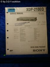 Sony Service Manual XDP 210EQ Digital Signal Processor (#3015)