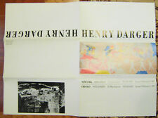 Outsider Artist HENRY DARGER Rare Rose Esman Gallery Poster 1987