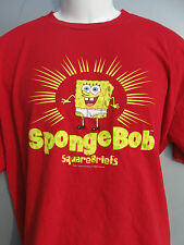 OFFICIAL NICKELODEON Spongebob Squarepants SQUAREBRIEFS red T-shirt sz L Large