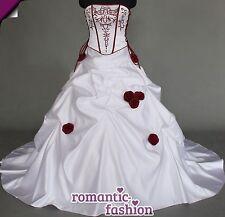 ♥Zweifarbiges Brautkleid Maßanfertigung alle Größen Weiß oder Creme+PL0500nM♥