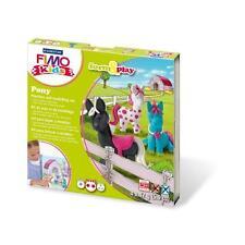 FIMO KIT FOR KIDS form & Play polimero Modellazione Forno Cuocere Argilla-Set per pony