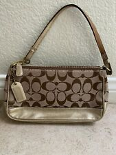 Authentic Coach Gold Signature Leather Demi Bag 1861