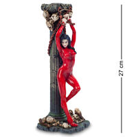 """Studio collection by Veronese Design WS-795 Figurine """"Woman in red"""" 27 cm"""
