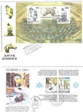 Francobolli - Lotto di 9 Foglietti ed un libretto di s.Marino su busta e non