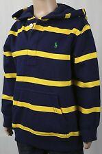 Children POLO Ralph Lauren Navy Blue Yellow Rugby Hoodie Green Pony NWT