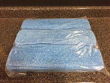 25 Blue Microfiber Wet Mop Pads Refill Fits Starfiber, Bona, Libman, Scoth-Brite