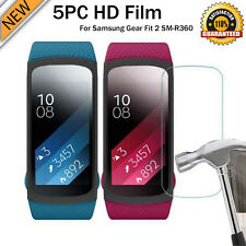5PC Lot HD Film Intelligent LCD Screen Protective For Samsung Gear Fit 2 SM-R360