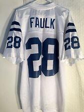 Reebok NFL Jersey Indianapolis Colts Marshall Faulk White sz LARGE