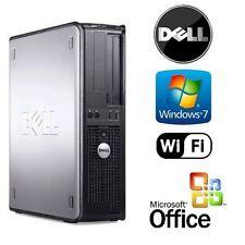 DELL DUAL CORE 2 DUO 3.0GHZ TOWER WINDOWS 7 DESKTOP 4GB RAM 2TB HDD WiFi`