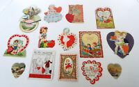 Antique Valentine Collection 1930's USA Vintage Diecut Cards 14 Piece Estate Lot