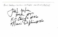 CHEAP AUTOGRAPHED INDEX CARD FRANK JACKSON KANSAS CITY CHIEFS MIAMI DOLPHINS