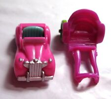 """VINTAGE 1994 Polly Pocket Magical Mansion Car & Horse Cart Carriage for 1"""" Dolls"""