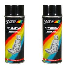 2x Motip Vinyl Spray Paint Black Car Vinyl Leather Interior Cleaner Spray 400ml