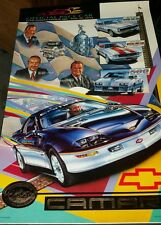 1993 Chevrolet Camaro Indy 500 pace car poster w/ 1967 1968 1982 pace car