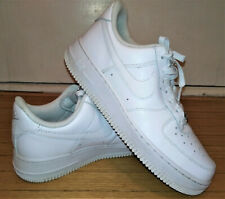 Nike Women's Air Force 1 07 LE Low Triple White Sneakers 315115-112 - Size 8